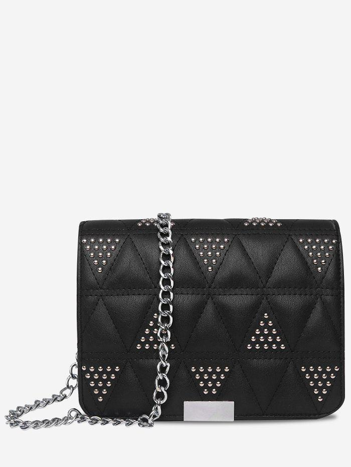 Store Quilted Studs Crossbody Bag