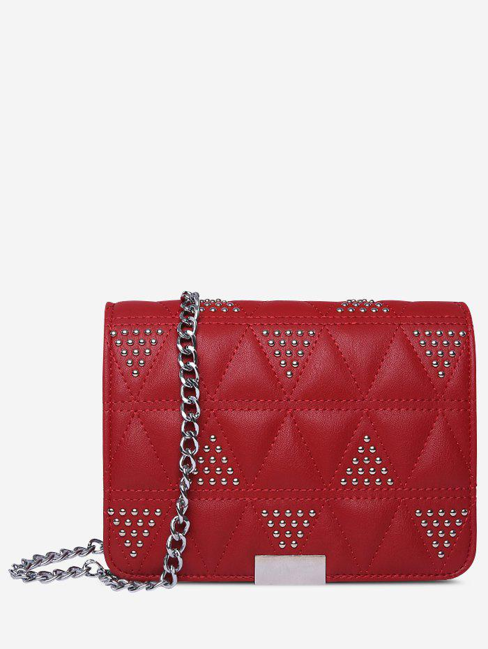 Fancy Quilted Studs Crossbody Bag