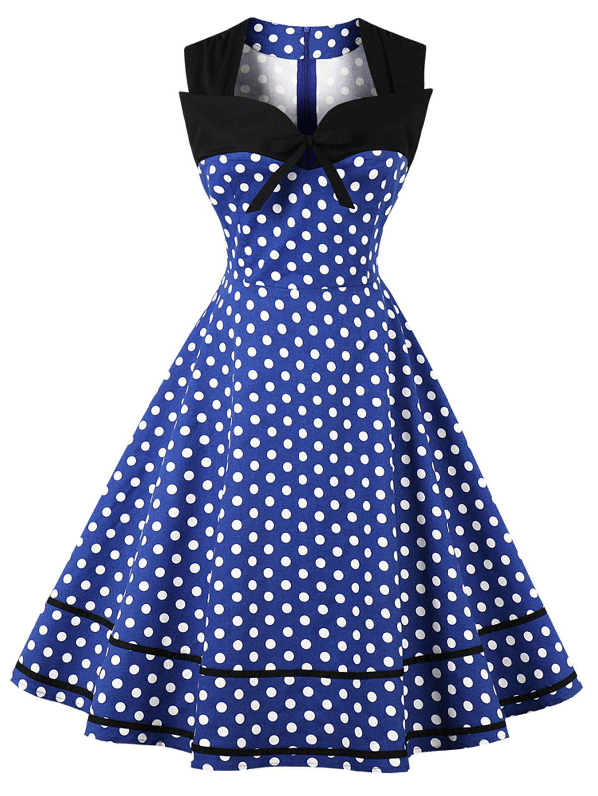 Fashion Plus Size Polka Dot Vintage Dress