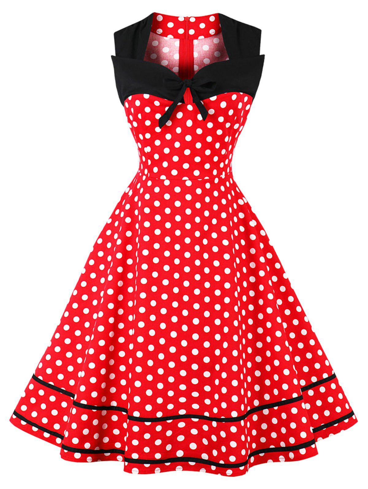 Shops Plus Size Polka Dot Vintage Dress