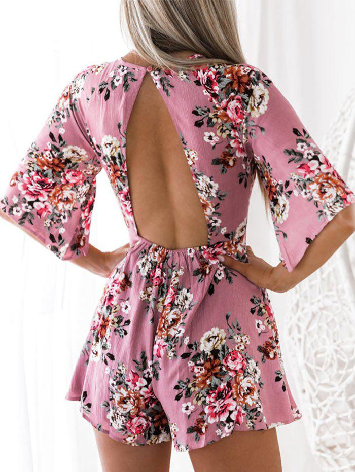 Buy Floral Print Cut Out Romper