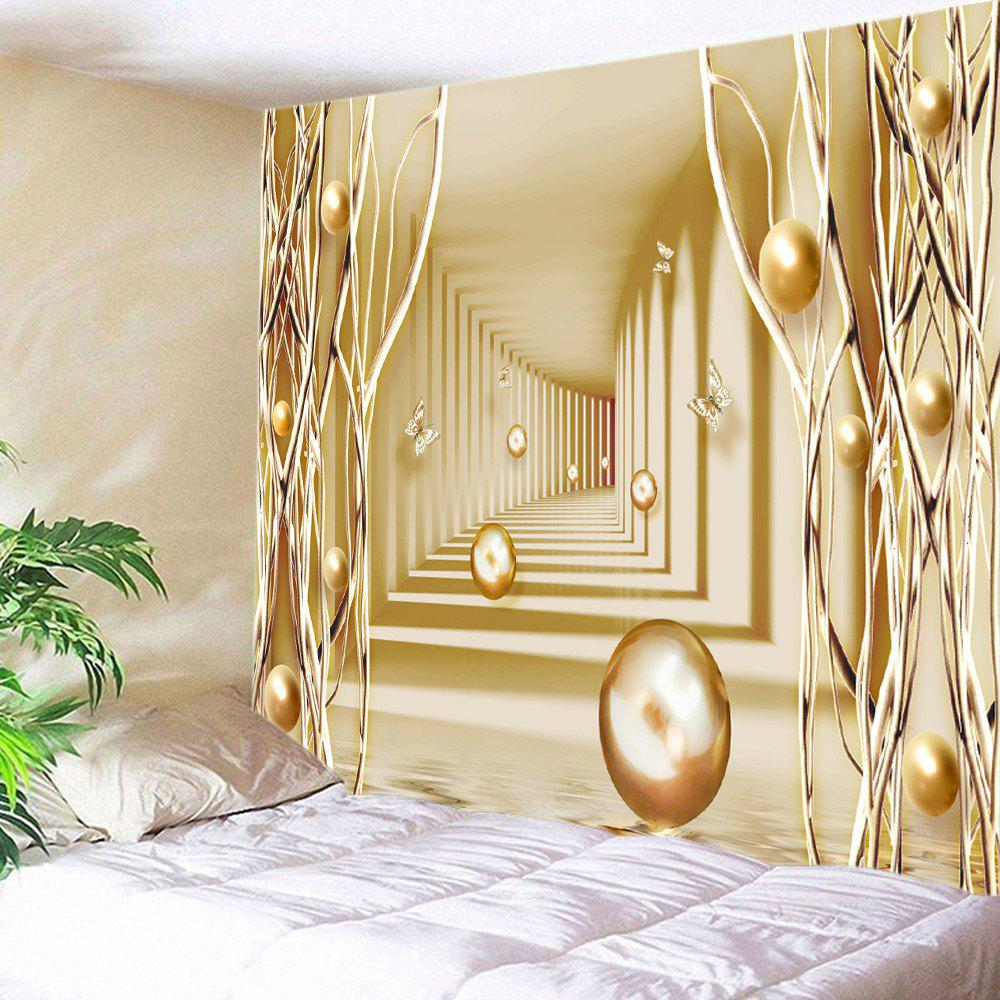Golden W79 Inch * L59 Inch 3d Passway With Butterfly Ball Print Wall ...