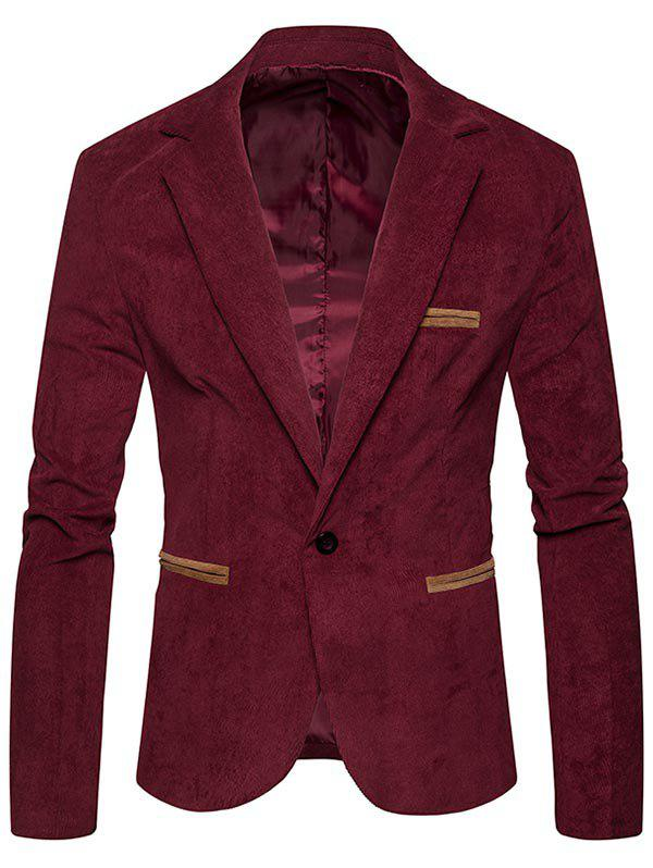 Shop Lapel Collar One Button Corduroy Blazer