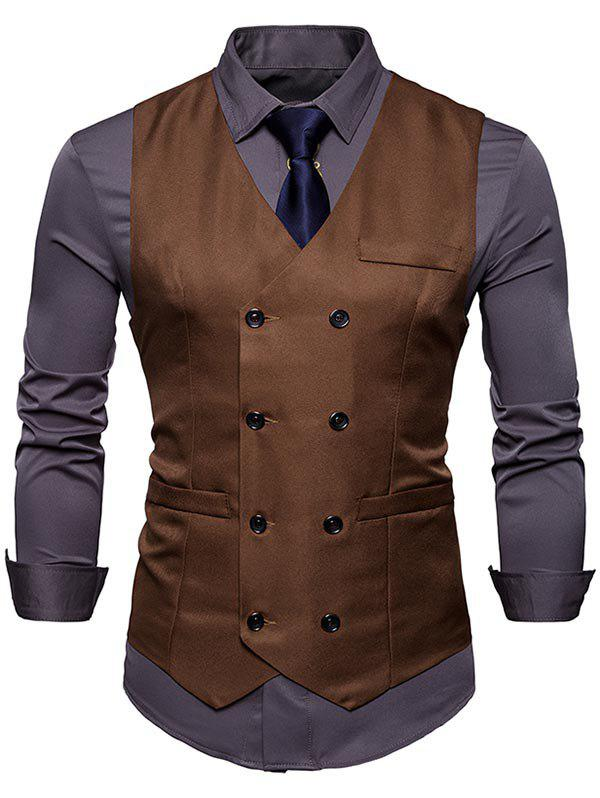 Outfit Slim Fit Double Breasted Waistcoat