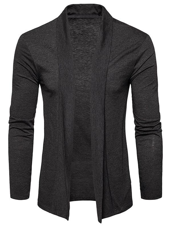 Shop Shawl Collar Open Front Cardigan