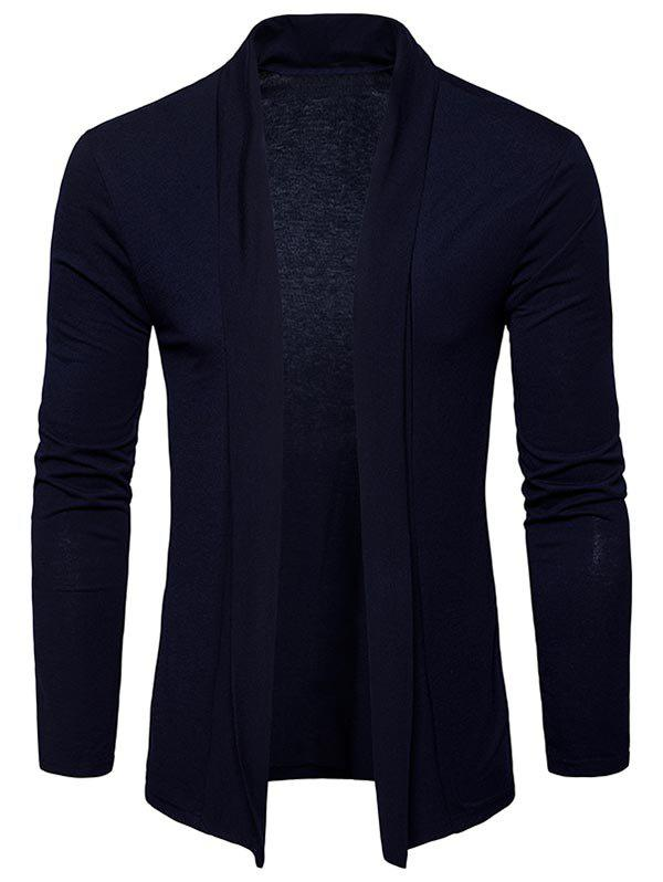 New Shawl Collar Open Front Cardigan