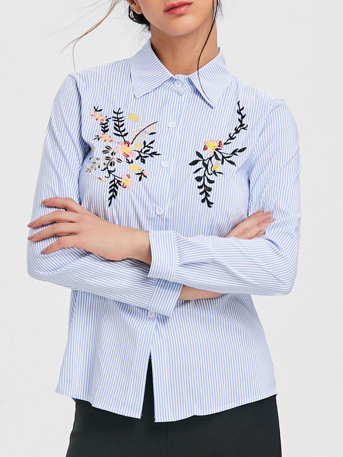Shop Long Sleeve Embroidered Shirt