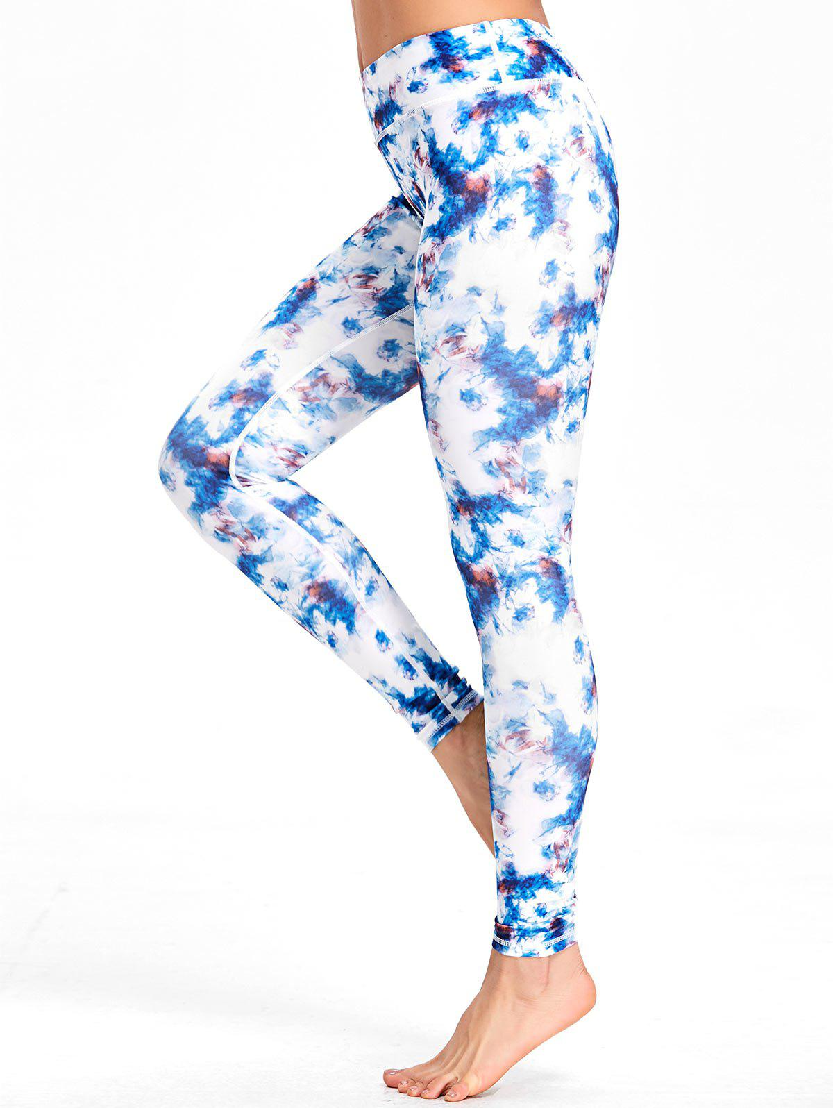 Fancy Tie Dyed Printed High Waisted  Workout Leggings