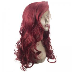 Long Deep Side Parting Fluffy Wavy Lace Front Synthetic Wig -