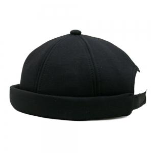 Solid Color Line Embroidery Adjustable Beret -