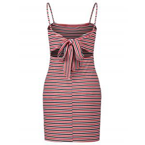 Spaghetti Strap Striped Bodycon Dress -