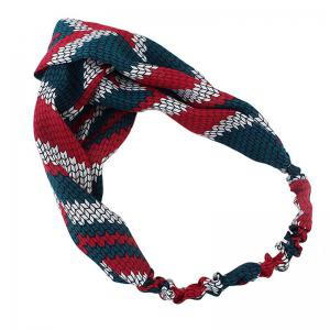 Color Block Geometric Printed Elastic Hair Band -