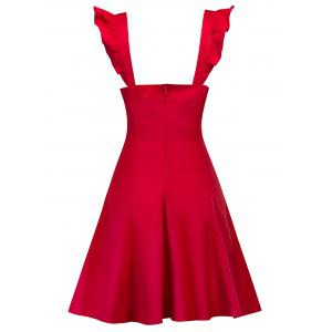 Vintage Backless Flounce Skater Dress -