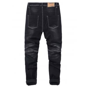 Zip Fly Tapered Fit Jeans -