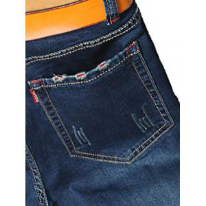 Zip Fly Straight Leg Classic Jeans -