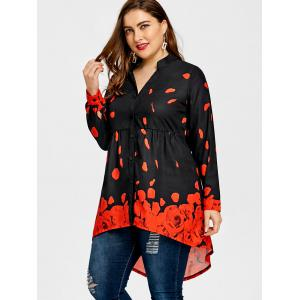 Plus Size Rose Petal Valentine Tunic Top -