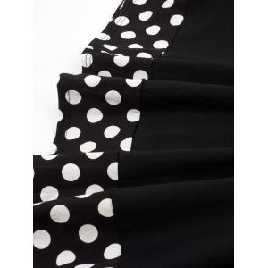 Vintage Pin Up Dress With Polka Dot Cape -