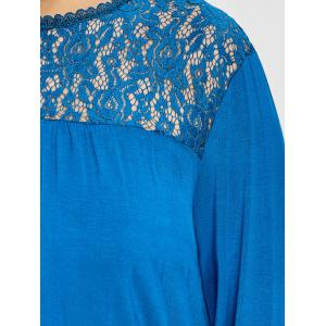 Plus Size High Low Lace Panel T-shirt -