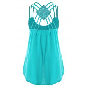 Plus Size Criss Cross Tank Top -