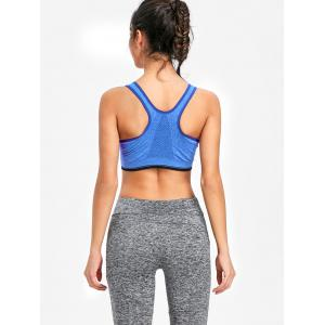 Racerback Zip Workout Bra -