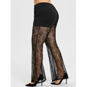Spider Net Lace Plus Size Flare Leggings -
