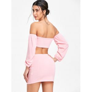 Puff Sleeve Bandeau Top and Bodycon Skirt -
