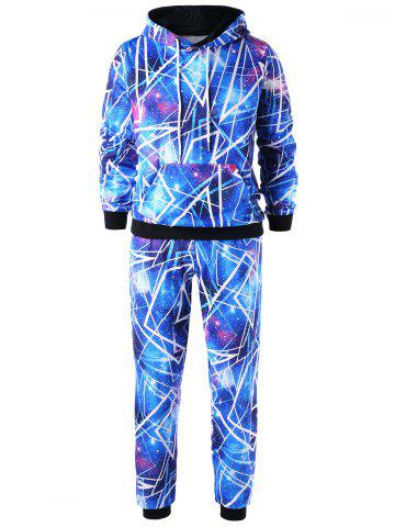 Sweat à capuche Galaxy avec pantalon Jogger - BLUE - XL
