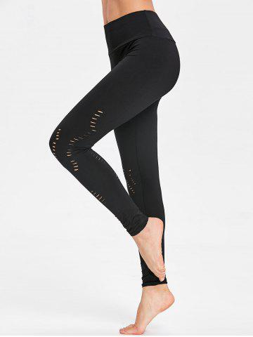 Unique Cutout Yoga Ripped Leggings