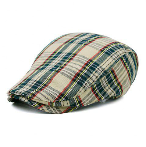 Fancy Simple Tartan Pattern Newsboy Cap