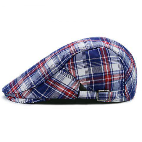 Fashion Checked Pattern Adjustable Cabbie Hat