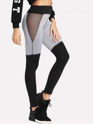 Store Color Lump Mesh Panel Leggings