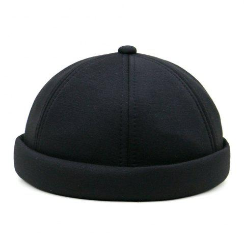 Store Solid Color Line Embroidery Adjustable Beret