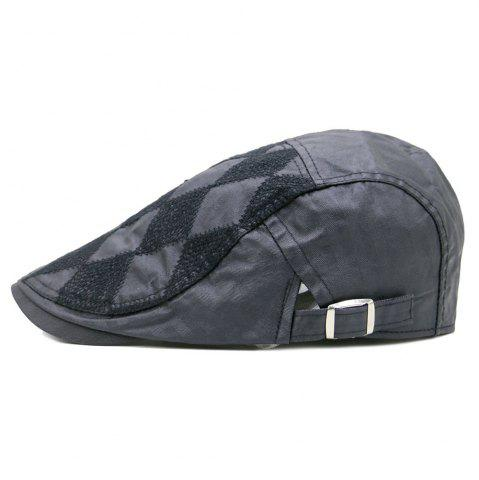 Chic Vintage Rhombus Pattern Adjustable Newsboy Cap
