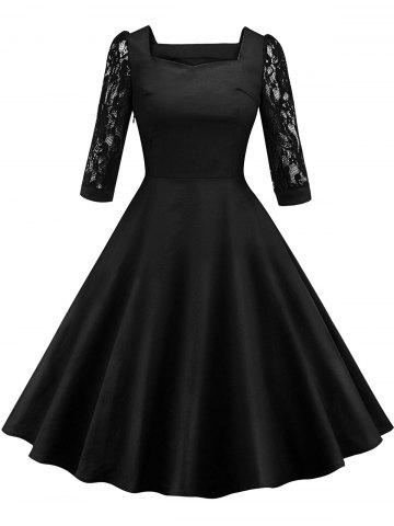 Buy Retro Lace Panel Pin Up Dress
