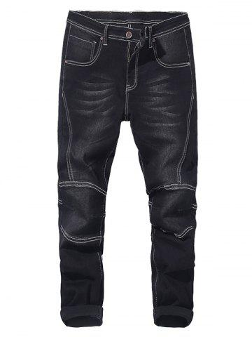 Discount Zip Fly Tapered Fit Jeans