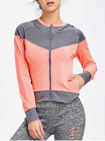 С капюшоном Raglan Sleeve Two Tone Sports Jacket