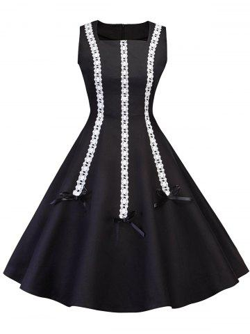 Trendy Vintage Lace Panel Pin Up Dress
