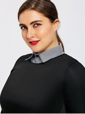 Latest Plus Size Plaid Shirt Detachable Collar