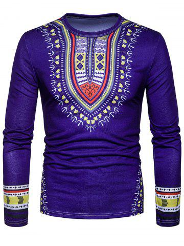Discount National Dashiki Printed T-shirt