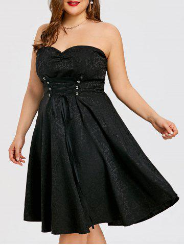 Robe bandeau grande taille