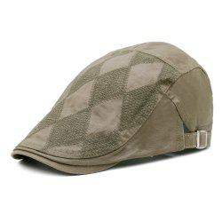 Vintage Rhombus Pattern Adjustable Newsboy Cap -