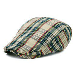 Simple Tartan Pattern Newsboy Cap -