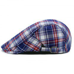 Checked Pattern Adjustable Cabbie Hat -