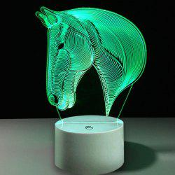 3D Horse Head Shape Decor USB Charging LED Touch Night Light -