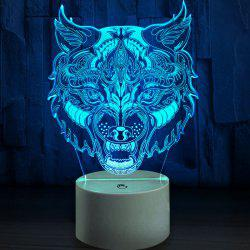 Tiger Head Touch Colors Change LED Night Light -