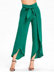 High Waist High Slit Wrap Pants -