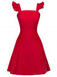 Vintage Backless Flounce Fit and Flare Dress -
