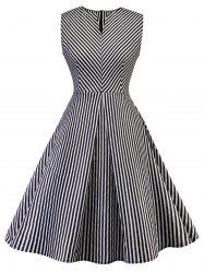Vintage Stripe Pin Up Dress -