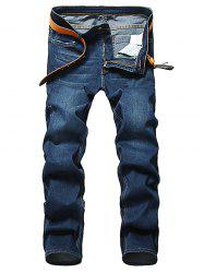 Zip Fly Straight Leg Jeans classique -