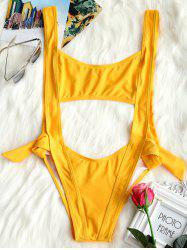 Backless Cut Out One Piece Swimsuit -